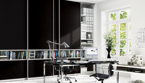 Black & Clear Glass Wardrobe