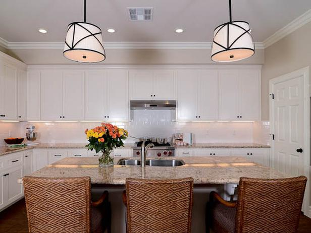 Transitional Open White Kitchen