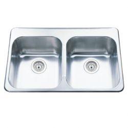 stainless steel undermount double sink