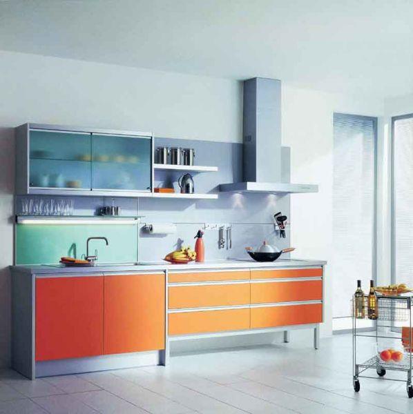 Open Kitchen Cabinet
