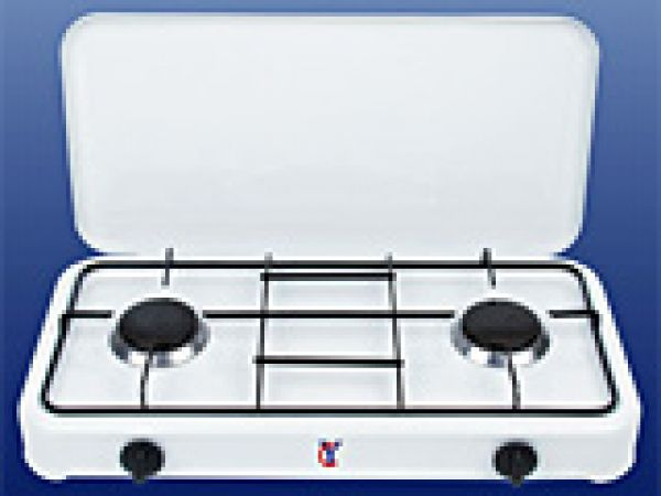 2 burner gas stove with cover