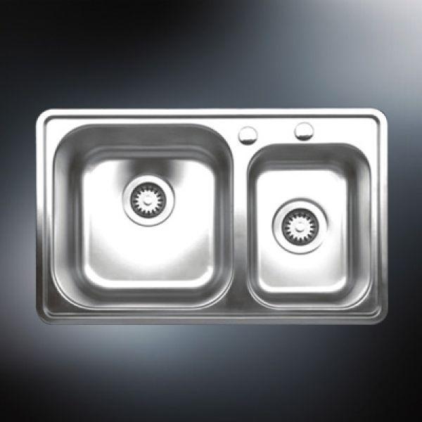 kitchen sinks double bowl