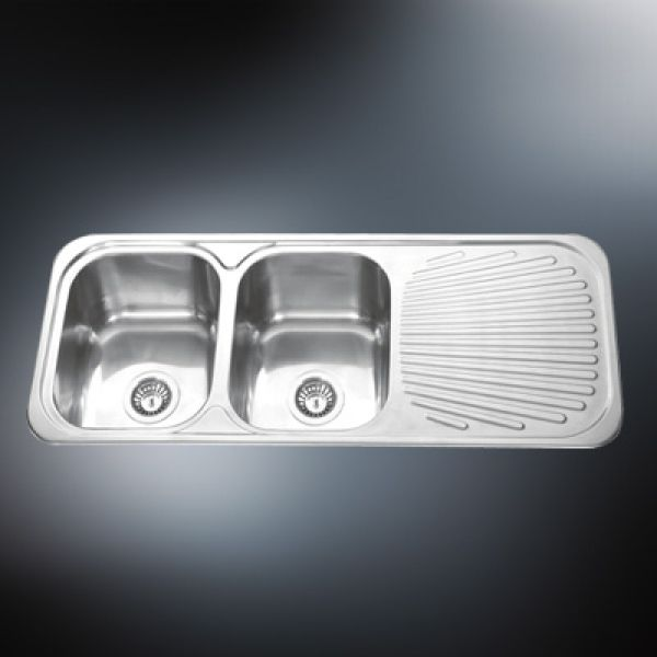drop in kitchen sink with drainboard