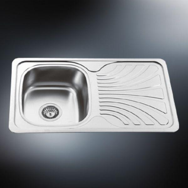 single bowl stainless steel kitchen sink