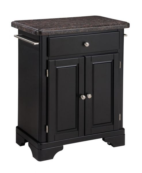 Kitchen Cart With Salmon Granite Top