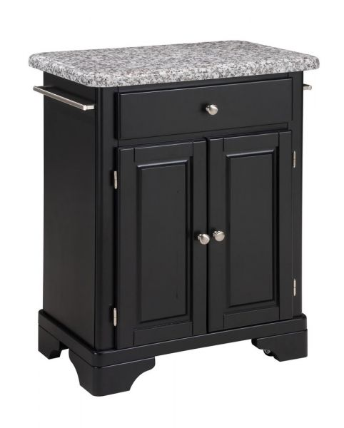 Kitchen Cart With Gray Granite Top