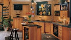 Black Accents Kitchen Cabinets
